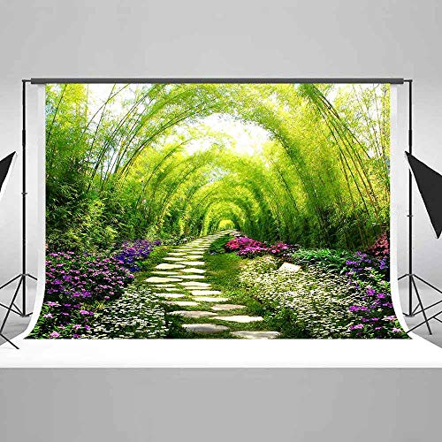 EARVO 10x7ft Flowering Shrubs Flowers Photography Background Photo Portrait Spring Outing Cotton Backdrop Photo Shoot Props EAXC114