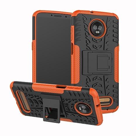 XINYUNEW Funda Moto Z3 Play, 360 Grados Protective+Pantalla de Vidrio Templado Caso Carcasa Case Cover Skin móviles telefonía Carcasas Fundas para ...