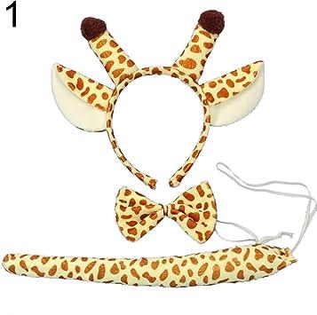 Dontdo - Juego de accesorios para disfraz de jirafa para adultos y ...
