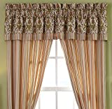 """valances for bay windows Croscill Pina Colada Window Valance, Bay Breeze Multi-Color, 88""""W x 18""""L"""
