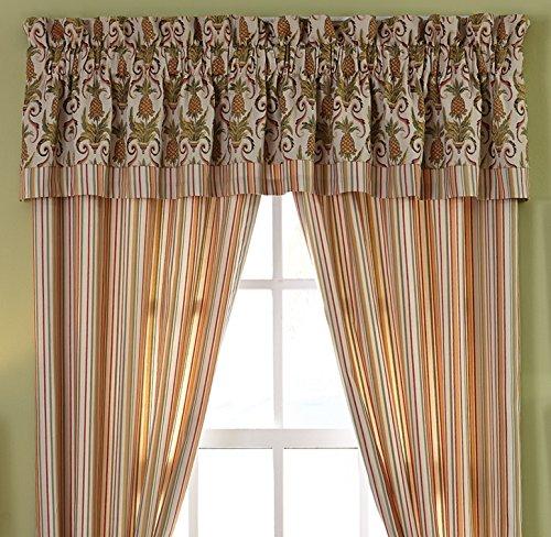 """Croscill Pina Colada Window Valance, Bay Breeze Multi-Color, 88""""W x 18""""L"""