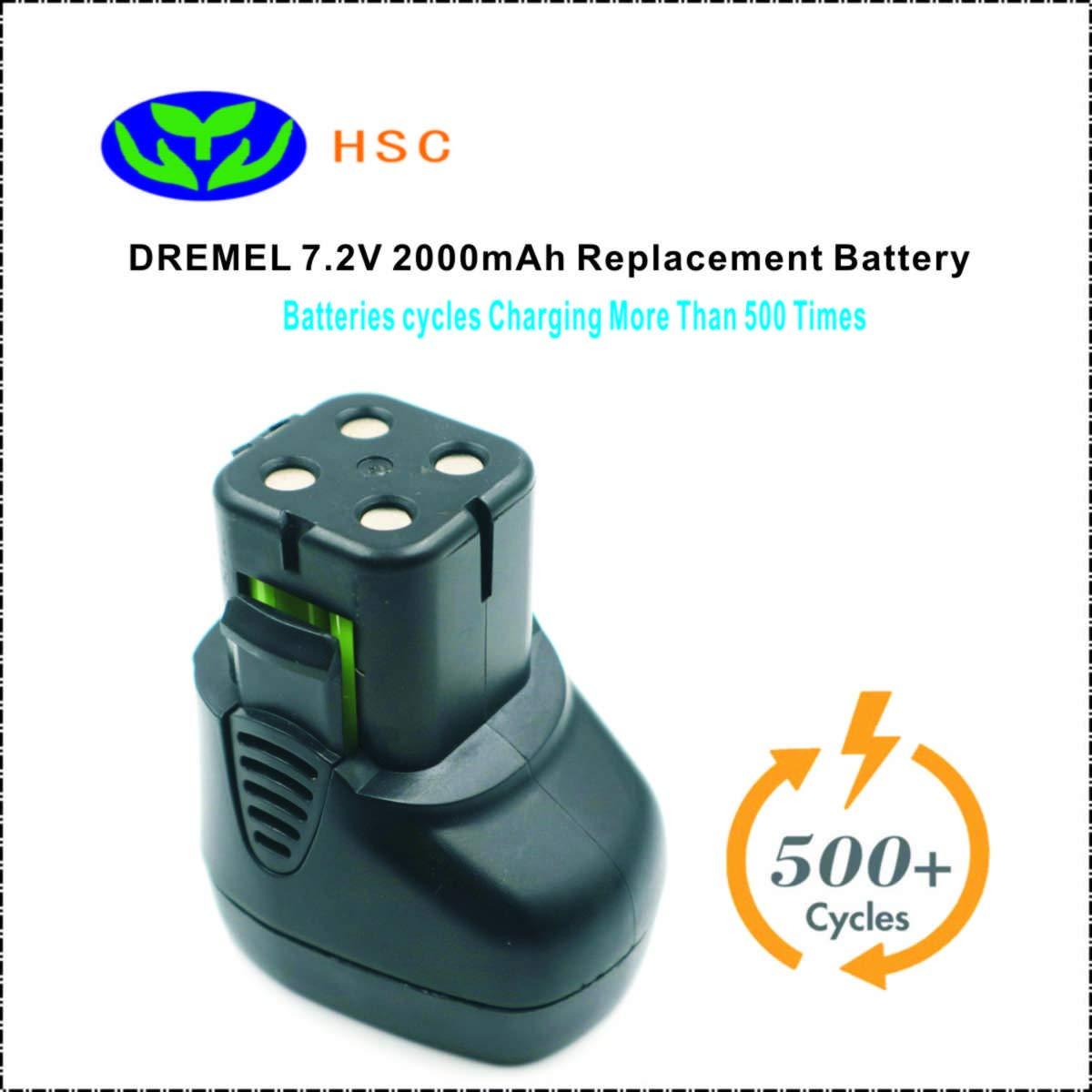 DRE7.2A 2000mAh 7.2V NiMh Battery Replacement DREMEL 757-01,758-01 Original Battery
