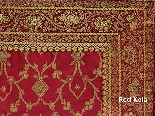 Kela Sari Mattress, Red, Handmade in Rajasthan, India. Filled with Natural Cotton and Poly dacron and hand tufted to securely hold the filling in place. Imported into the US.