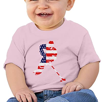 Cute Short-Sleeve T-Shirts USA Hockey 6-24 Months Baby Boys Infant