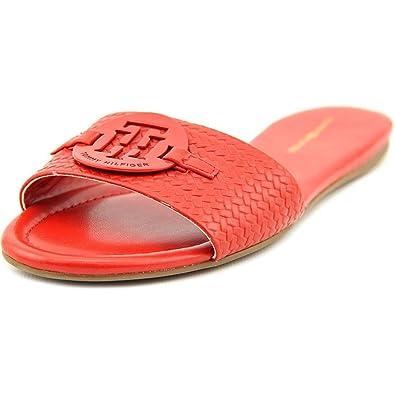 08ba2382a Tommy Hilfiger Fabre Women US 5.5 Red Slides Sandal