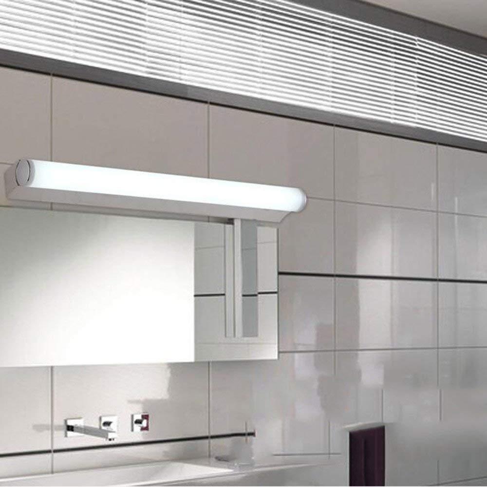 Edelstahl LED-Spiegel Vordere Scheinwerfer, einfache und moderne Badezimmer Spiegelschrank Licht Licht Schlafzimmer Wand Lampe Make-up-Lampe (Farbe  weiß, Größe  60 cm-8W)
