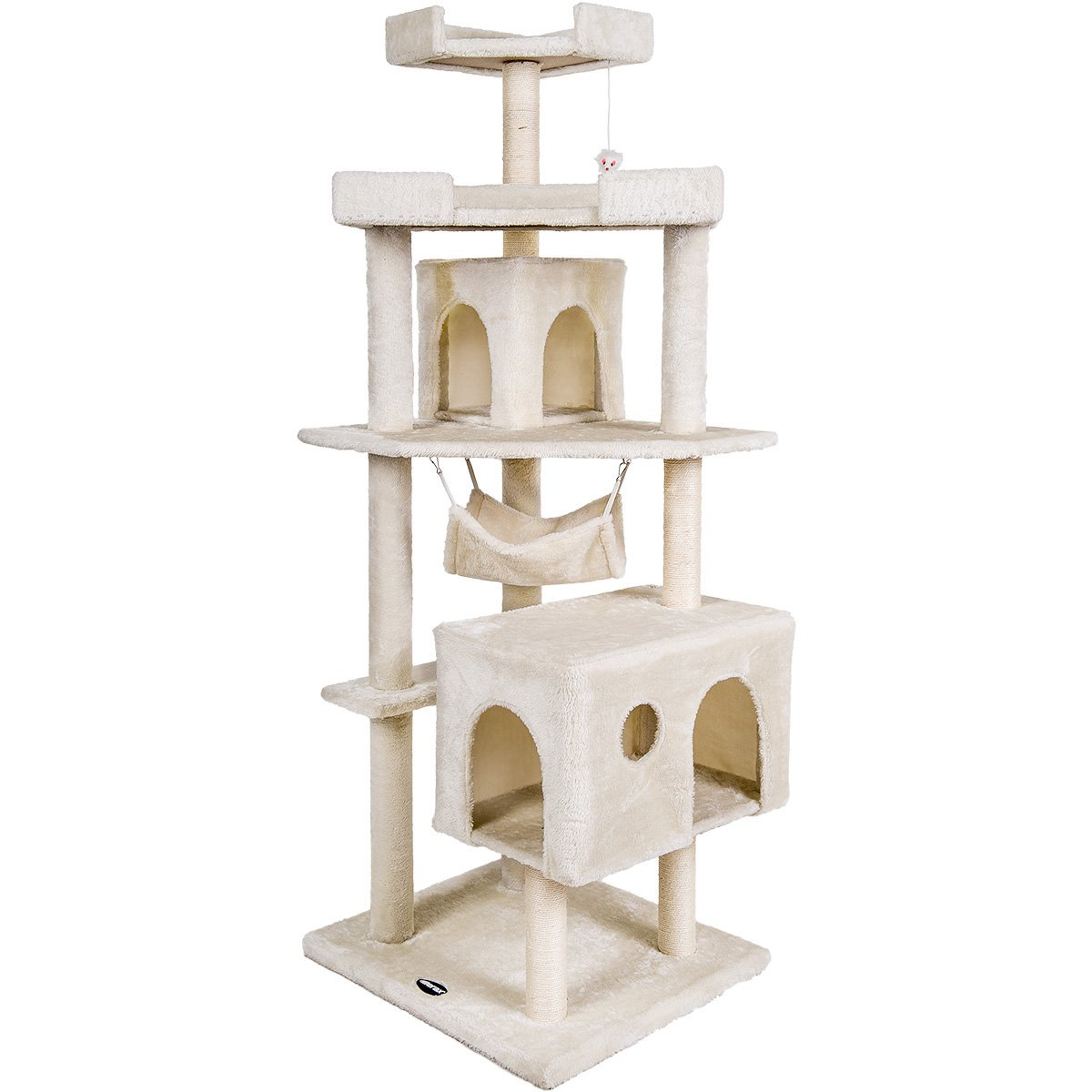 Merax Cat Tree Cat Tower with Condo House Furniture Design-NO.5