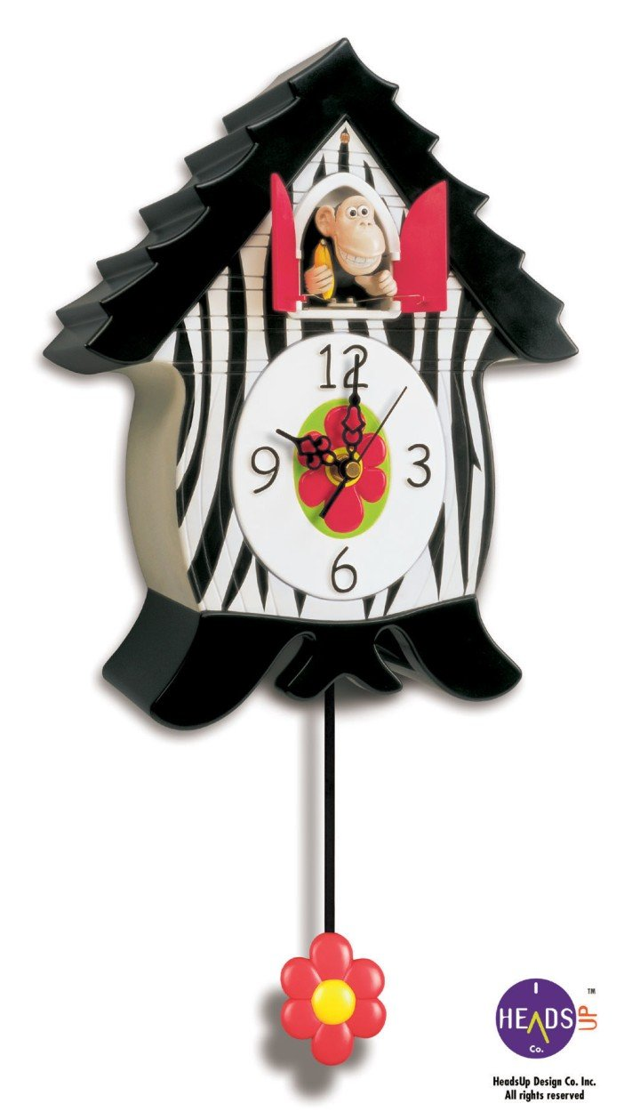 HeadsUp Design OranguCoo Clock, Cuckoo Type Clock, Monkey Character HeadsUp Design Company 70423 70423-1/OranguCoo Clocks
