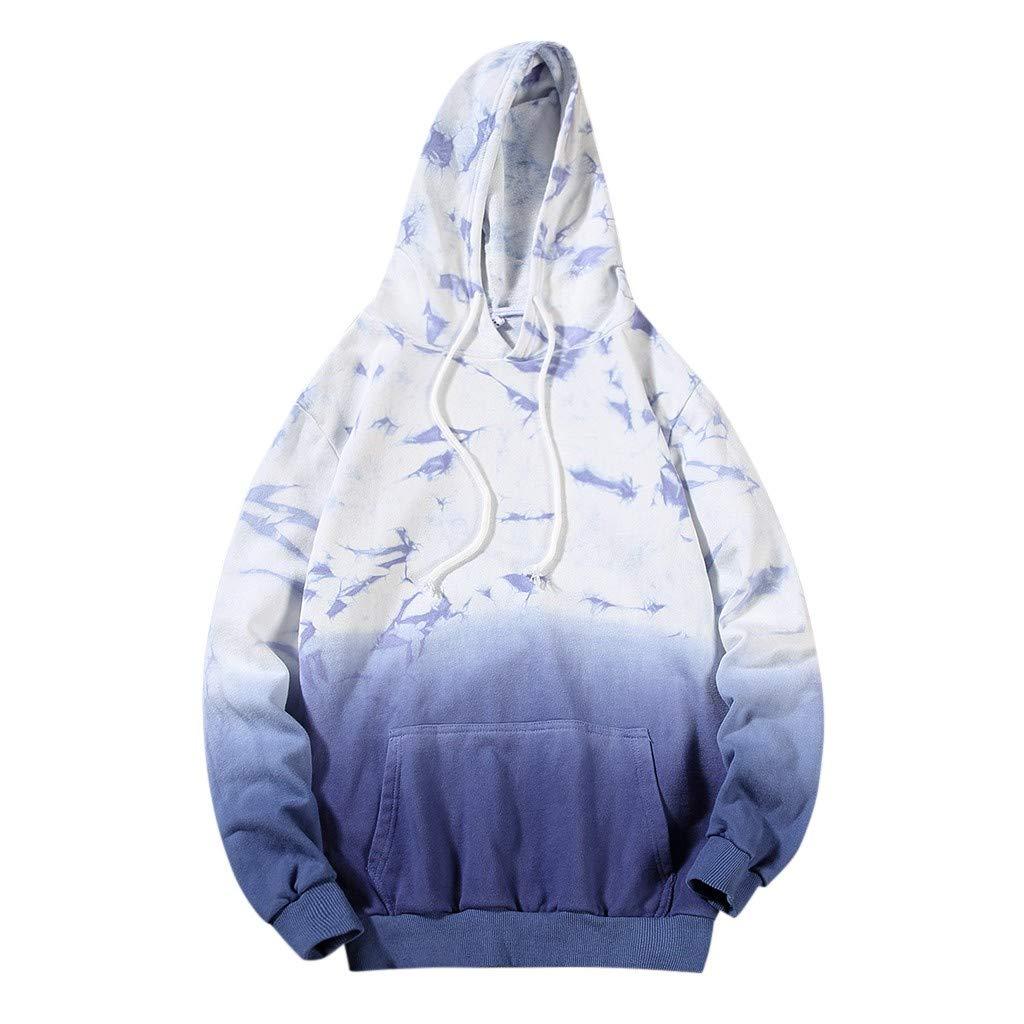 Mens Pullover Hoodie Casual Autumn&Winter Gradient Hoodies Long Sleeve Sweatshirt Outwear Coat Tops by LOOKAA Hoodie