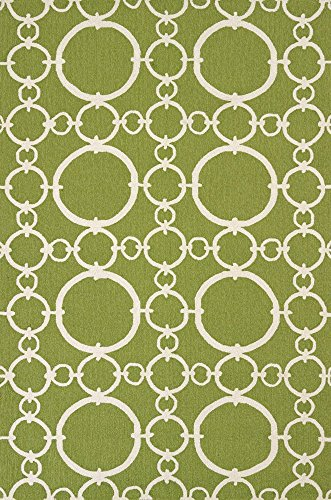 United Weavers of America Panama Jack Signature Indoor/Outdoor Chain Weaver Rug, Apple Green, 8' x 10' (Apple Jack Rug)