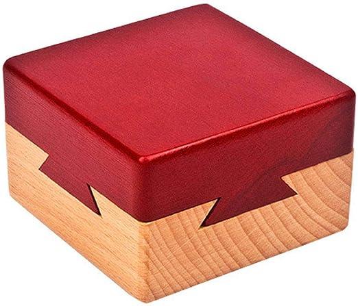 GreatFun caja secreta de madera Puzzle caja secreta de madera cerebro teaser jaula cerradura intelectual juguete lógica pensamiento juguetes educativos: Amazon.es: Hogar