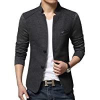 TaLs9yLI Coat Jacket for Men Men's Fashion Autumn Jacket Casual Long Sleeve Slim Fit Button Coat Outwear