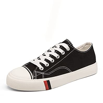 61f7337a8a9f7 Amazon.com | xiaoyang Women's Low-Top Canvas Shoes Flat Sneakers ...