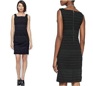 e544debcd47 Eileen Fisher Women s Stripe Square Neck Ponte Sheath Dress