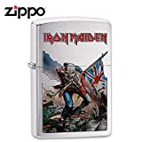 Zippo Iron Maiden Brushed Chrome Pocket Lighter