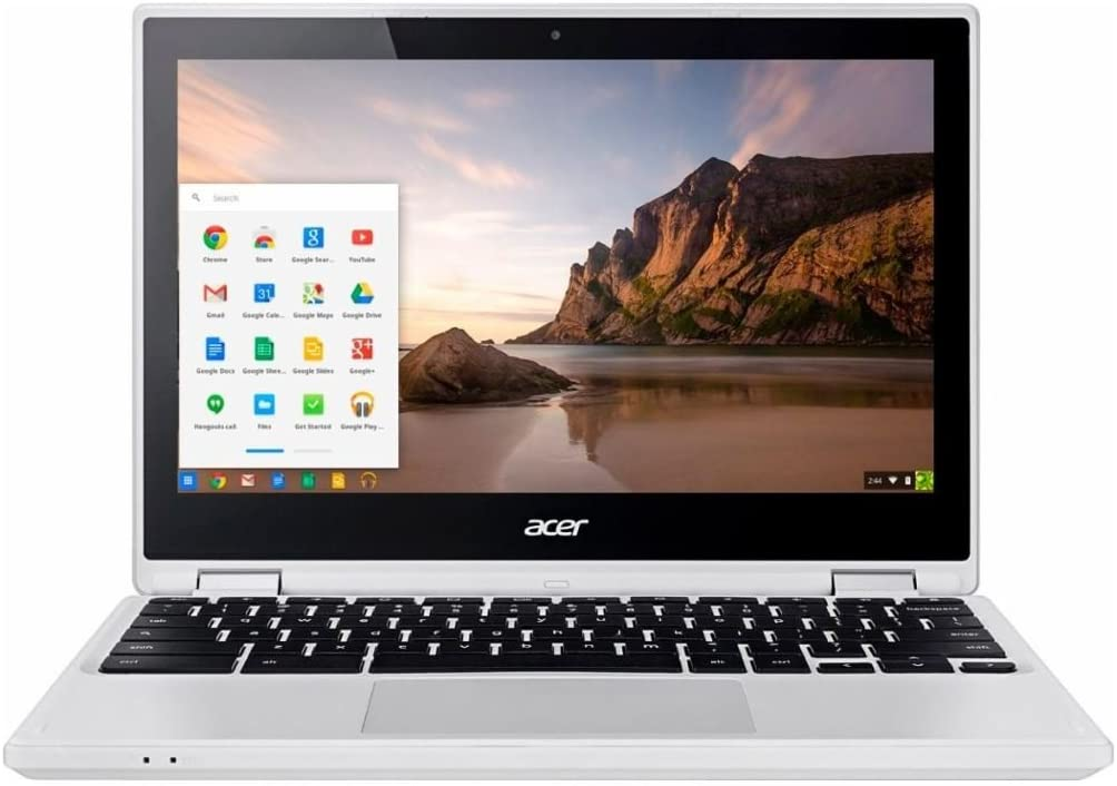 "Acer R 11 Convertible 2-in-1 11.6"" Touchscreen Chromebook-Intel Celeron N3150, 4GB DDR3L, 32GB eMMC Flash Memory, Chrome-White"