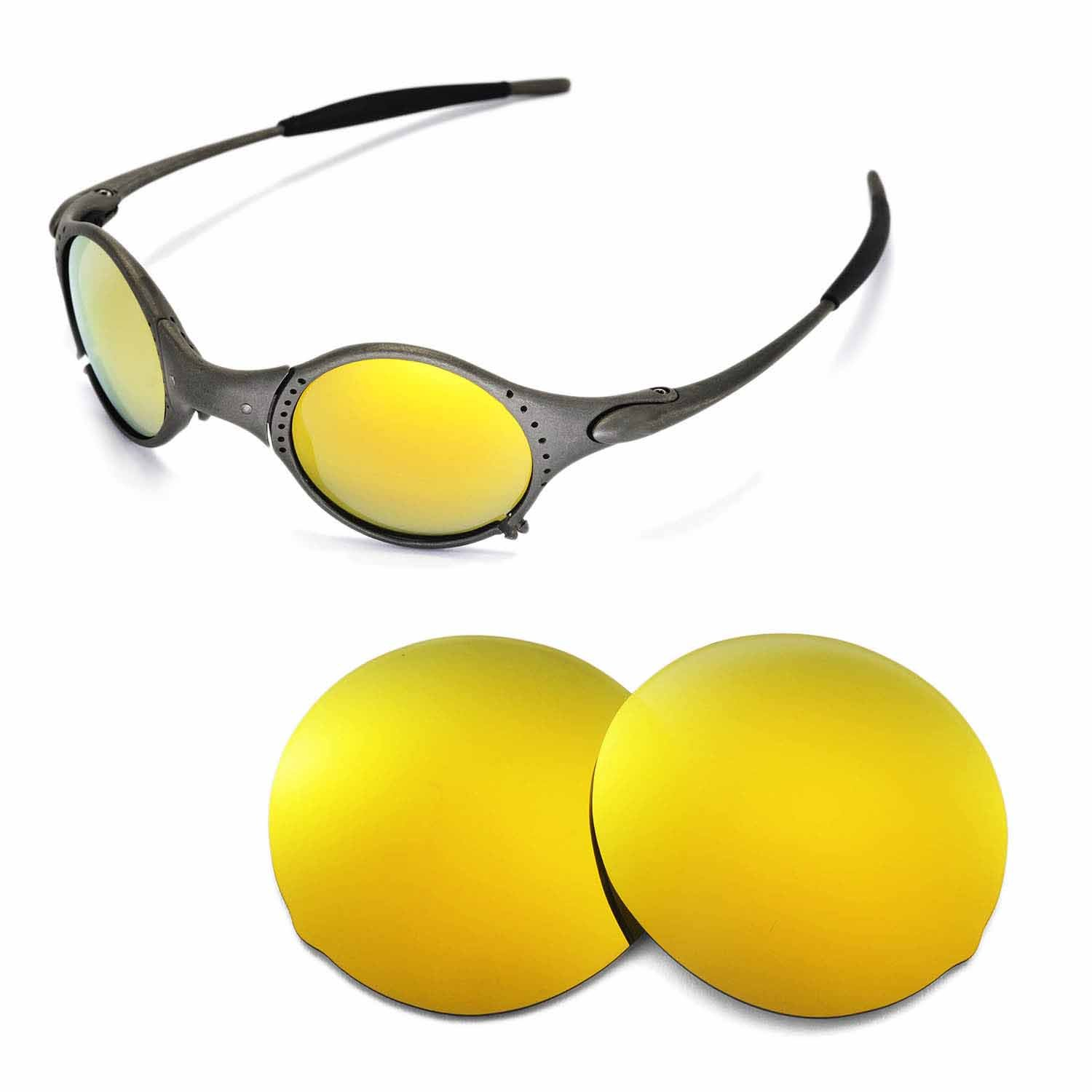 0ff14dfa2d7 Walleva Replacement Lenses for Oakley Mars Sunglasses - Multiple Options  (24K Gold Mirror Coated - Polarized)  Amazon.co.uk  Clothing