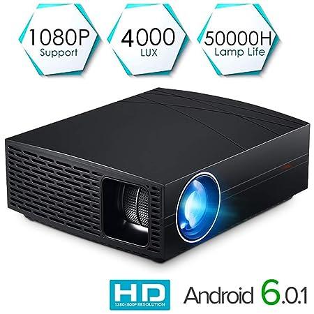 GMACCE 1080p proyector LED, proyector de Video portatil 4000 ...