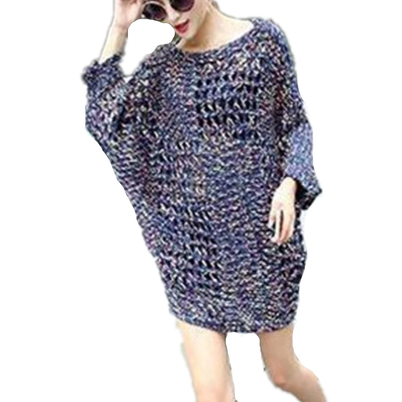 EMIN Women's Print Drape Open Front Drape Boyfriend Cardigan Sweaters Knited Sweater Coat Outwear