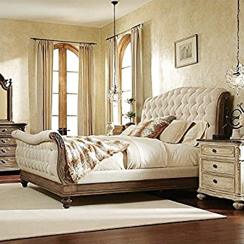 This item American Drew Jessica Mcclintock Boutique Sleigh Bed in Baroque  King 598117 Beige  Amazon. King Dhp Sleigh Beds   s rk com