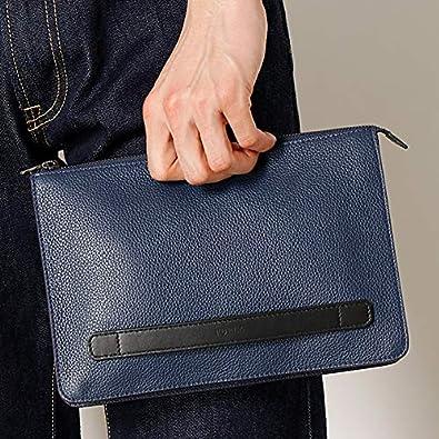 f0ae90e464b9 Amazon | フルラ(FURLA) メンズユリッセ ミニクラッチバッグ【ネイビー/**】 | メンズバッグ・財布