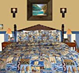 Beach Bedding - Sunset Beach Queen / Full Comforter w/ Two Standard Pillowcases