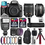 Holiday Saving Bundle for D3300 DSLR Camera + AF-S 35mm f/1.8G DX Lens + AF-P 18-55mm + Battery Grip + 6PC Graduated Color Filter Set + 2yr Extended Warranty + 32GB Class 10 - International Version