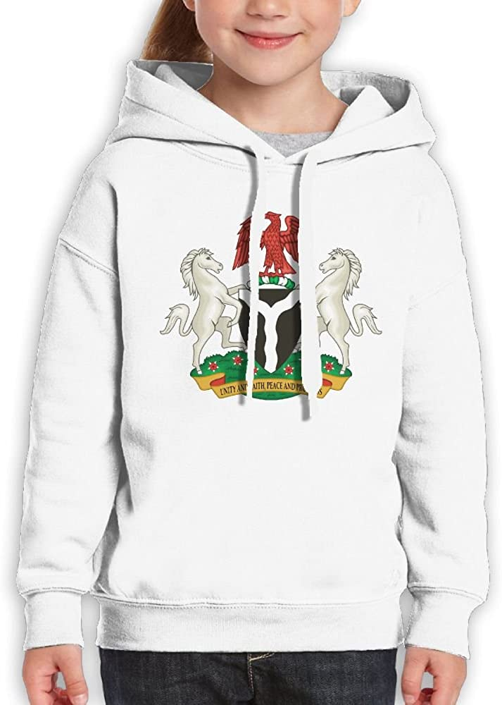 DTMN7 Coats Of Arms Of Nigeria Fashion Printed Cotton Top For Kids Spring Autumn Winter