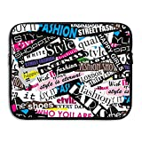 FSKDOM Laptop Sleeve Computer Ultrabook Case Fashion Icon Girl Quotes Neoprene Computer Bag For All Computer Ultrabook/Lenovo Dell/MacBook Pro Etc For 13 Inch And 15 Inch