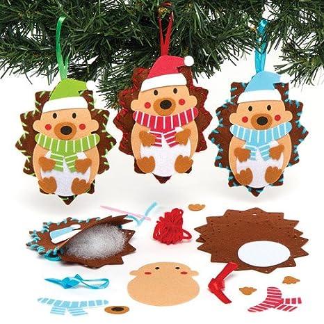 Decorazioni Natale Bambini 3 Anni.Baker Ross Kit Da Cucito Per Decorazioni Natalizie Con Ricci Da