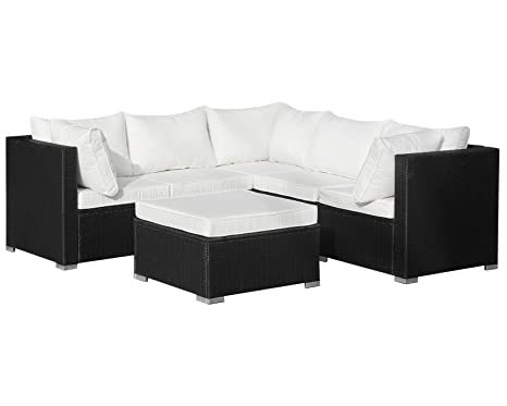 Amazonde Hanssonsports Rattan Polyrattan Lounge Sitzgruppe