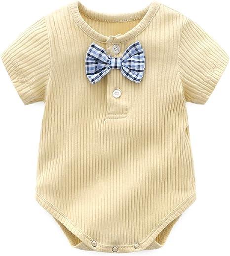 Losait Children Kids Organic Cotton Short Sleeve Romper Bodysuit Jumpsuit
