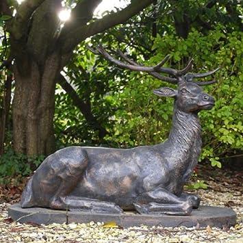 Large Life Size Bronze Stag Sculptures Deer Garden Ornaments