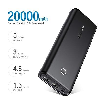 POWERADD EnergyCell 20000mAh Powerbank con Power Delivery, PD18W Batería Externa con Puerto USB C, Carga Rápida para iPhone,Samsung,Huawei y Otros ...