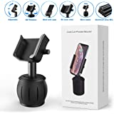 3rd Generation Cup Holder Phone Mount [Upgraded] Aluminum Alloy Adjustable Car Cup Holder Phone Mount for Cell Phone iPhone Xs/Xs Max/X/8/7 Plus/Galaxy and Most Smartphones