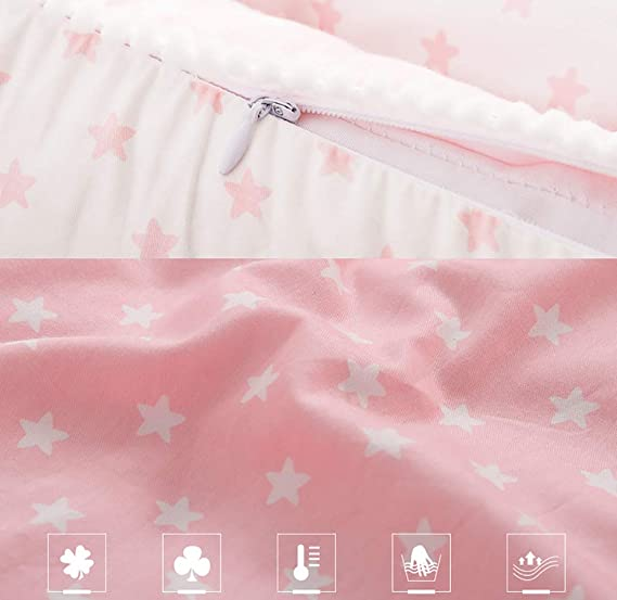 73PENNY Newborn Infant Toddler Cribs /& Cradles Super Soft Breathable Sleep Bed Pillow for Camping Both Sides Available Suitable for Children