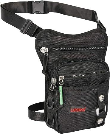 Larswon Thigh Pack, Leg Bag Thigh Pouch Bag Tactical Waist Bag Motrocycle Bag Waterproof Green