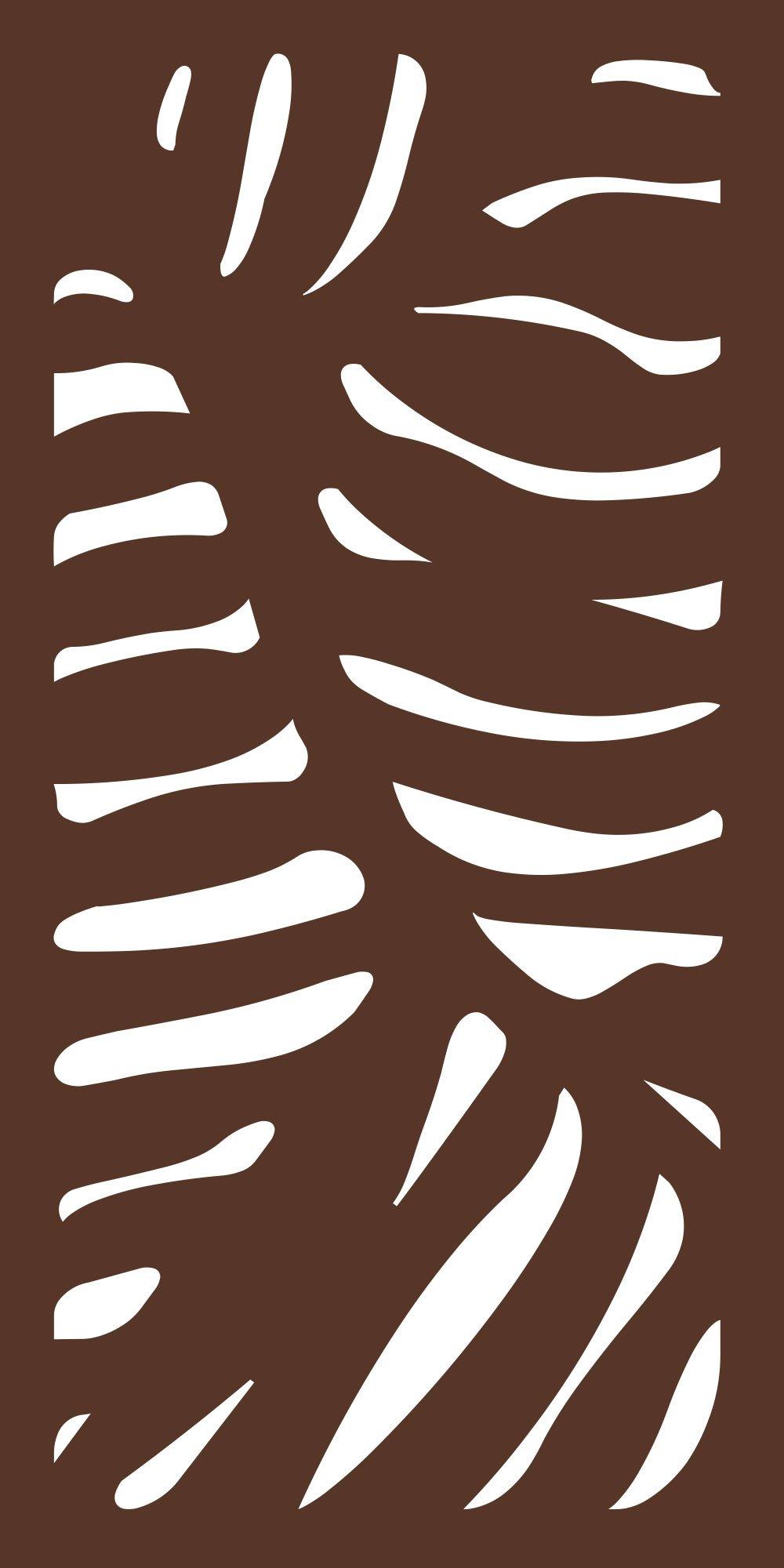 MODINEX Decorative Screen Panel - CABO Design - 2' x 4' Size - Espresso - 80% Privacy