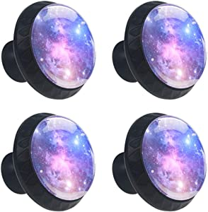 Idealiy Galaxy Space Star Drawer Pulls Handles Cabinet Dressing Table Dresser Knob Pull Handle with Screws 4pcs