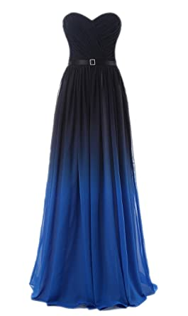 Annas Bridal Womens Rainbow Prom Dresses Long Evening Gowns Blue US2