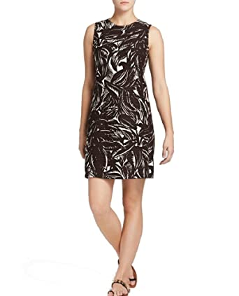 dfaef3a460 Image Unavailable. Image not available for. Color  Tory Burch Cotton Linen  Palms Shift Dress ...