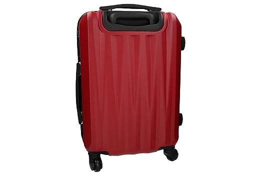 Maleta rígida PIERRE CARDIN rojo mini equipaj de mano ryanair 4 ruedas VS217: Amazon.es: Ropa y accesorios