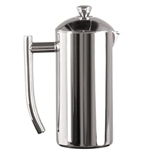 Frieling USA Double Wall Stainless Steel French Press Coffee Maker with Patented Dual Screen, Polished, 17-Ounce