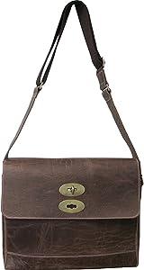 Amerileather Burlingdon Distressed Brown Leather Briefcase