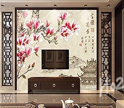 XLi-You 3D TV in the living room wall asset in a Chinese-style solid color wallpaper murals