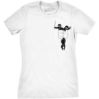 Crazy Dog Tshirts - Womens Pocket Ninjas Funny T Shirts ...