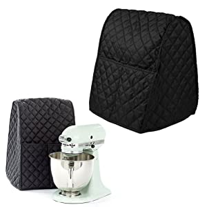 Kicode Stand Mixer Cover Dust-proof with Organizer Bag for Kitchenaid Mixer Home Decoration Supplies (Black)