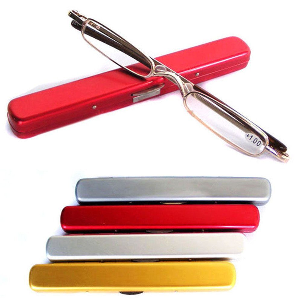 YOUZUO® Ultra Thin Mini Reading Glasses Presbyopic Eyeglass +1.0 ~ +4.0(Color random)