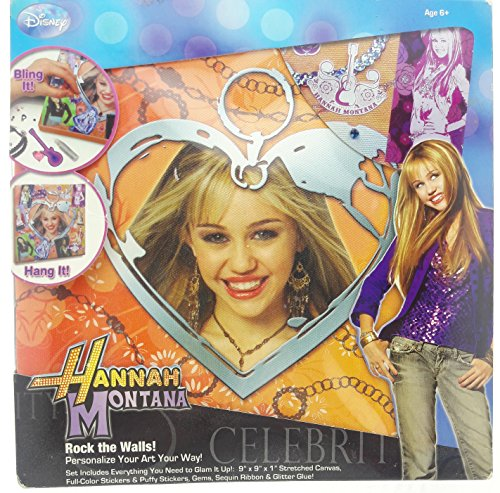 Hannah Montana Personalized - Hannah Montana Personalized Canvas Art Kit - Orange