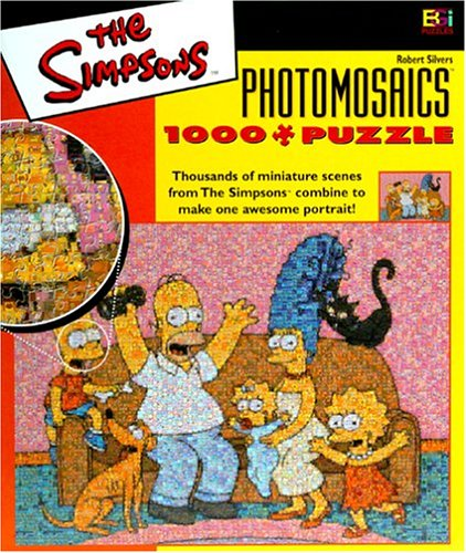 Simpsons Photomosaic Family Jigsaw Puzzle (Simpsons Family Couch)